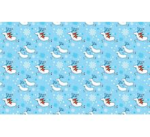 Riding Reindeer - Christmas Pattern Photographic Print