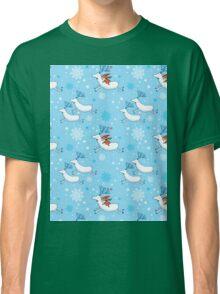 Riding Reindeer - Christmas Pattern Classic T-Shirt