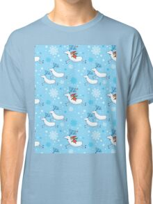 Riding Reindeer - Christmas Pattern Classic T-Shirt