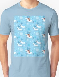 Riding Reindeer - Christmas Pattern Unisex T-Shirt