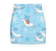 Riding Reindeer - Christmas Pattern Mini Skirt