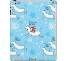 Riding Reindeer - Christmas Pattern iPad Case/Skin
