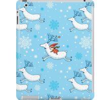 Riding Reindeer - Christmas Pattern iPad Case/Skin