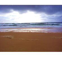 Cloudy Morning on Sunshine Beach Photographic Print