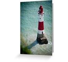 Beachy Head Lighthouse - Sussex, UK. Greeting Card