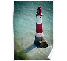Beachy Head Lighthouse - Sussex, UK. Poster