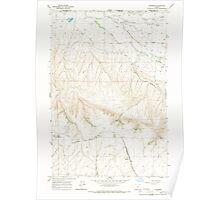 USGS Topo Map Oregon Waterman 282035 1966 24000 Poster