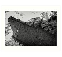A Ship wrecked or destroyed upon the water Art Print