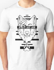 POPUFUR -black text- Unisex T-Shirt