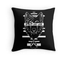 POPUFUR -white text- Throw Pillow