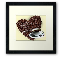 COFFEE cartoons Framed Print