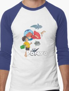 Ponyo Men's Baseball ¾ T-Shirt