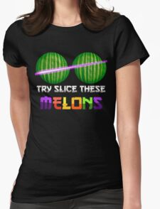Slice These Melons Womens Fitted T-Shirt