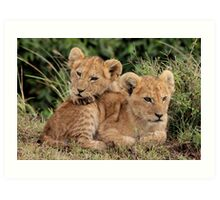 Out of Africa - Lean on Me Art Print