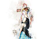 Blue skirt by AniaU