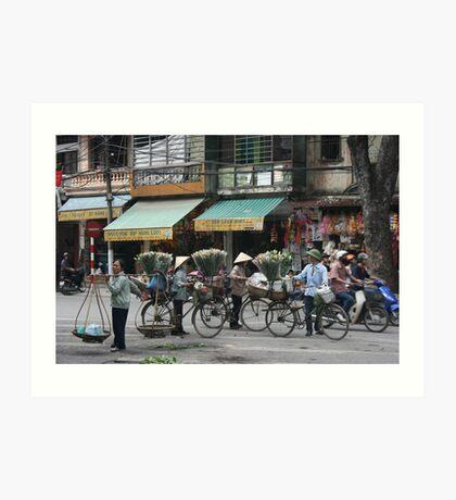 flower sellers | Hanoi Viet Nam Art Print