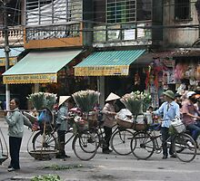 flower sellers | Hanoi Viet Nam by Richard Keating
