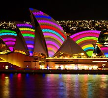 Crochet Sails - Sydney Vivid Festival - Sydney Opera House by Bryan Freeman