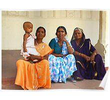 Four Generations at the Taj Mahal - India Poster