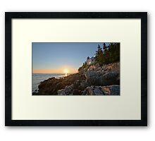Sunset at Bass Harbor Lighthouse - Acadia National Park, Maine Framed Print