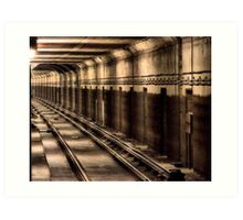 Attention Subway Patrons Art Print