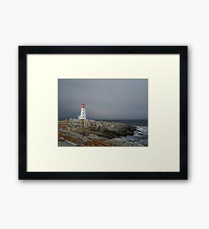 Peggy's Cove Lighthouse Nova Scotia Canada Framed Print