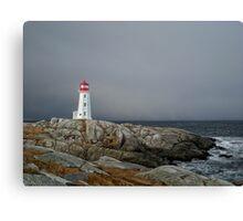 Peggy's Cove Lighthouse Nova Scotia Canada Canvas Print