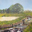 Millenium Walk, Aire Valley, Keighley, West Yorkshire by christine vandenhaute