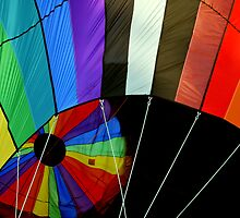 Rainbow Hot Air Balloon by Edward Fielding