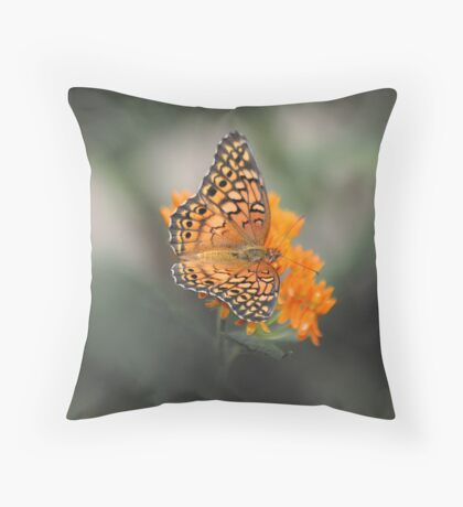 Butterfly in Fog Throw Pillow