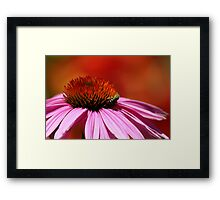 Green Bee in the Fire Framed Print