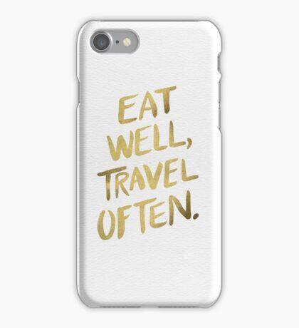 Eat Well, Travel Often – Gold iPhone Case/Skin
