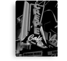 CREPE CAFE Canvas Print