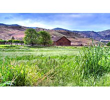 Cant Ranch Barn Photographic Print