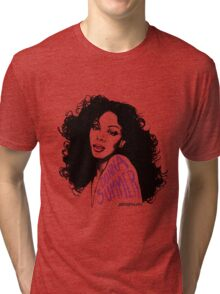 Donna Summer Portrait Sketch Tri-blend T-Shirt