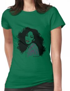 Donna Summer Portrait Sketch Womens Fitted T-Shirt