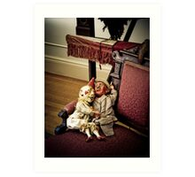 pittock mansion puppets Art Print