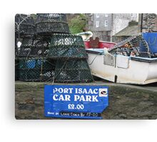 PORT ISAAC - DOC MARTIN'S TOWN OF PORT WEN IN CORNWALL Canvas Print