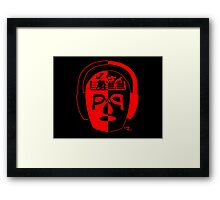 Lucha On The Brain Wolfpac Edition Framed Print