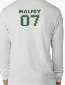 Malfoy Quidditch Jersey Number (Green) T-Shirt