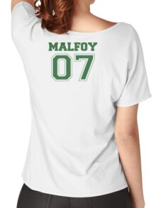 Malfoy Quidditch Jersey Number (Green) Women's Relaxed Fit T-Shirt