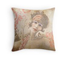 Flapper with Flourishes Throw Pillow