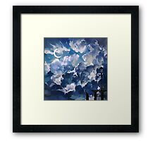 the sky-wanderer. Framed Print