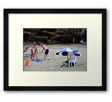 Beach Rescue.. And Relief! Framed Print