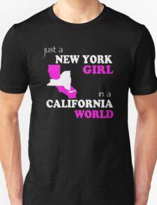NEW YORK GIRL IN A CALIFORNIA WORLD T-Shirt