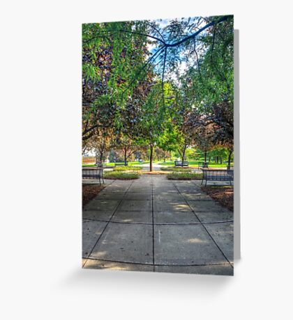 Ping Tom Park Symmetry Greeting Card