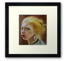 The girl with a silver earring Framed Print