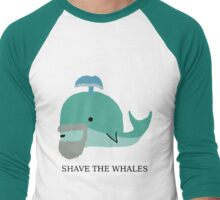 Shave the whales Men's Baseball ¾ T-Shirt