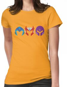 Mega Man X Helemt Trio Womens Fitted T-Shirt