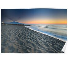 Seascape with Mt. Etna Poster